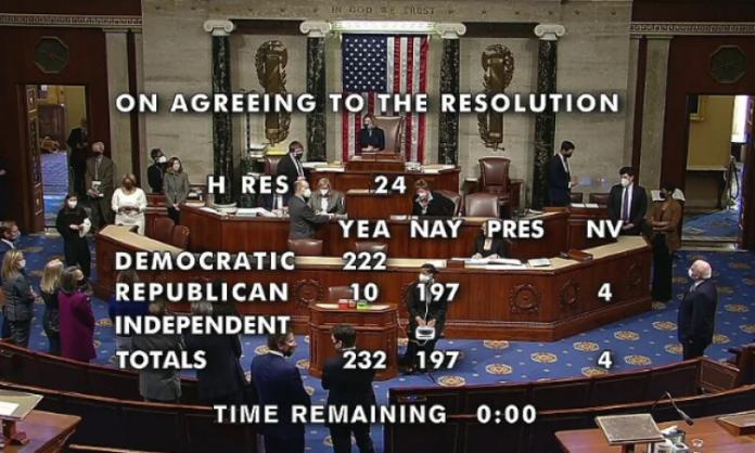 Zastupnički dom Kongresa SAD-a izglasao opoziv predsjednika Trumpa