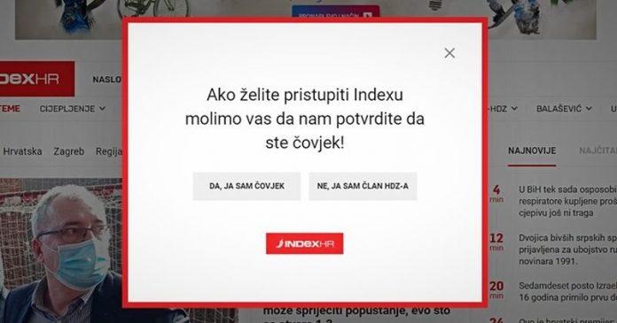 HDZ Republike Hrvatske najavio pravne korake protiv portala Index.hr