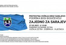 Protestna vožnja kroz Sarajevo i podrška Bogićeviću