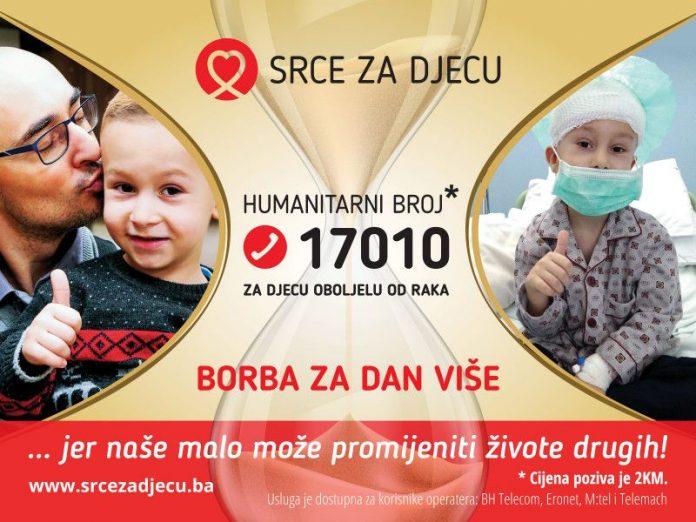 Udruženje 'Srce za djecu oboljelu od raka' pokreće kampanju 'Borba za dan više'