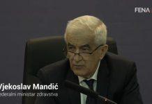 Vjekoslav Mandić: Policijski sat u FBiH od 23.00 do 05.00 sati