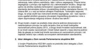 Izetbegović pisao Čoviću: SDA neće pregovarati samo sa HDZ-om, traži uključivanje svih parlamentarnih stranaka