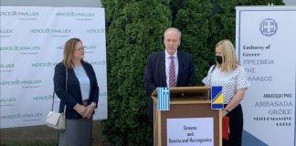 Grčki ambasador uručio donaciju BiH od 120.000 cjepiva protiv Covid-19