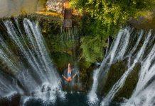 6. međunarodni skokovi s vodopada u Jajcu u subotu, 14. augusta