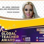 Amra Imširagić dobitnica prestižne nagrade Global Teacher Award